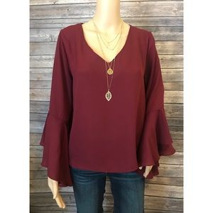 Brand New Bell Shaped Burgundy Too